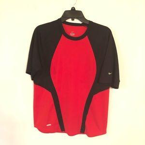 Nike Dri Fit Women's Red & Black Shirt Size S